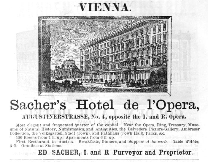Hotel Sacher Wien Geschichte