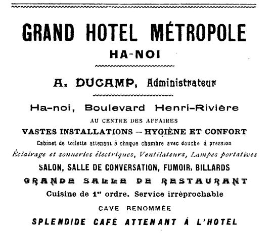 Grand Hotel Metropole Hanoi