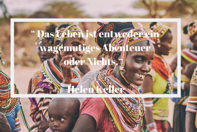 Reisezitat Helen Keller