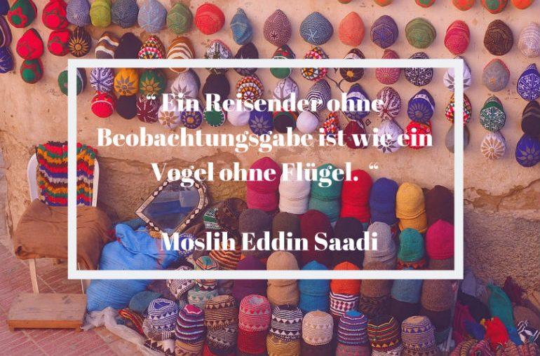 Reisezitat Moslih Eddin Saadi