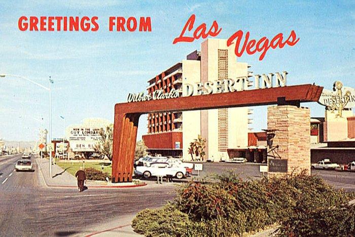 Postkarte Desert Inn Las Vegas 1970